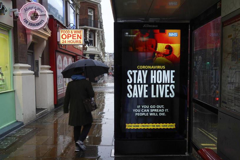 Koronawirus w Wielkiej Brytanii /NIKLAS HALLE'N /AFP