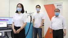 Koronawirus w wydychanym powietrzu. Wynik po minucie