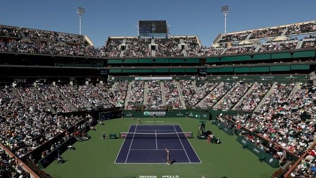 Kort tenisowy w Indian Wells /Matthew Stockman /Getty Images