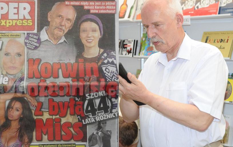 Korwin-Mikke już po ślubie! /MW Media Piotr Andrzejczak /Super Express