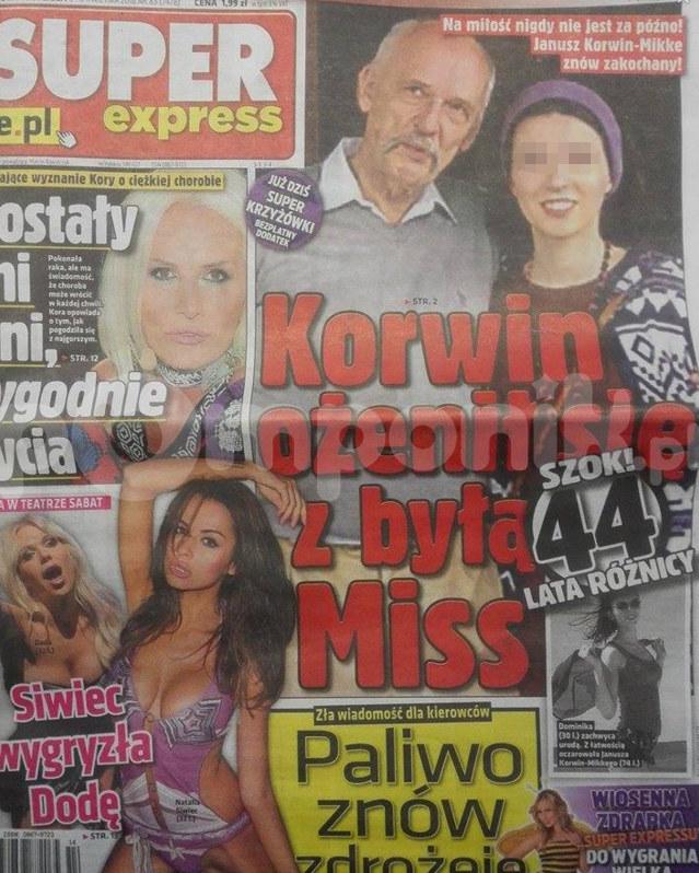 Korwin-Mikke ożenił się! /Super Express
