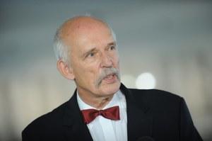 Korwin-Mikke usłyszał zarzut ws. spoliczkowania Boniego