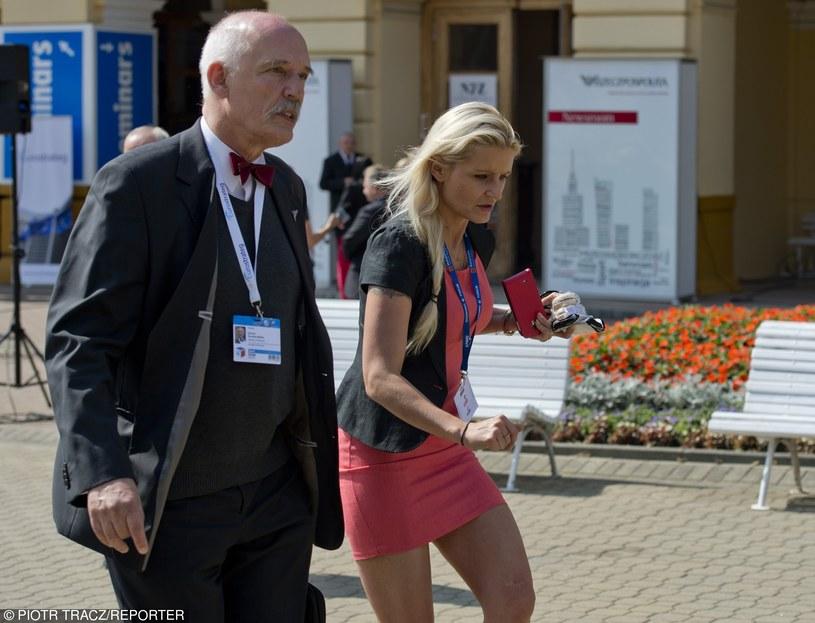 Korwin-Mikke z córką /Piotr Tracz /East News