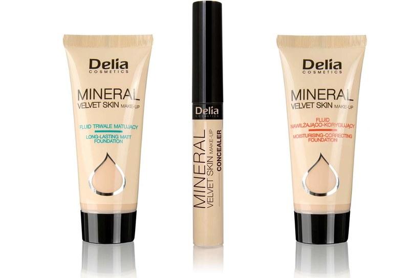 Kosmetyki do makijażu Delia /Styl.pl/materiały prasowe