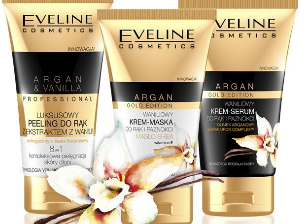 Kosmetyki do pielęgnacji rąk z serii Argan&Vanilla od Eveline /materiały prasowe