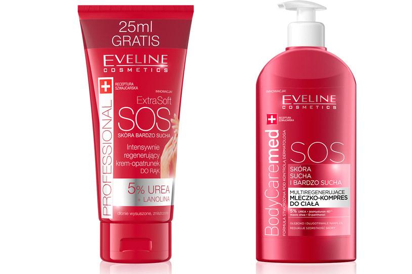 Kosmetyki  z kompleksowej linii SOS od Eveline Cosmetics /materiały prasowe