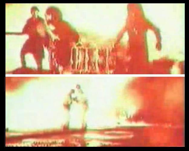 """""""Kosmodrom Bajkonur zmienił się w ogromną kulę ognia, widoczną ponoć z odległości 50 km"""" - kadry z materiału  zarejestrowanego tuż po katastrofie /materiały prasowe"""