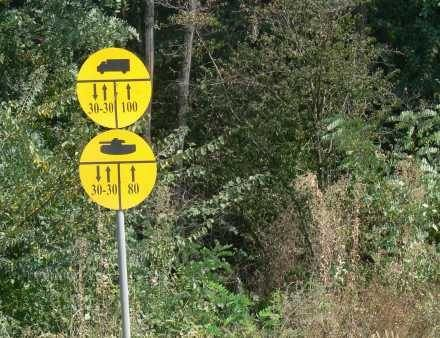 Kosowo: Znak drogowy dla czołgów /INTERIA.PL
