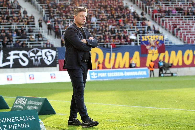 Kosta Runjaic podczas meczu Pogoni /Krzysztof Cichocki/Newspix /Newspix