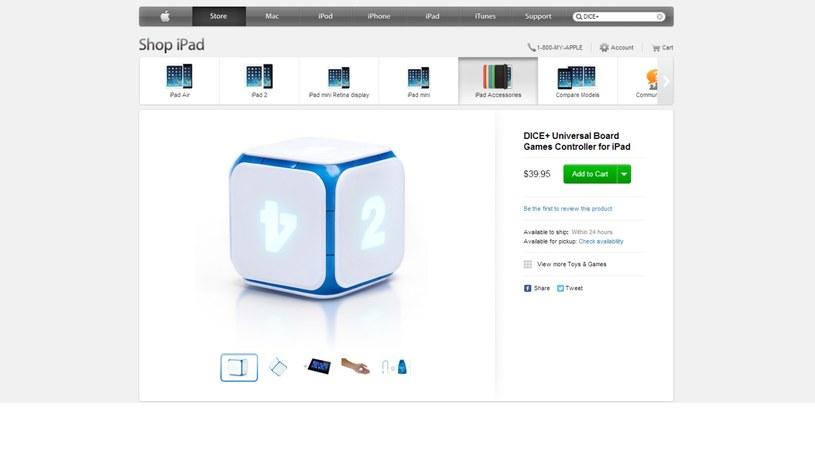 Kostka DICE+ w Apple Store /materiały prasowe