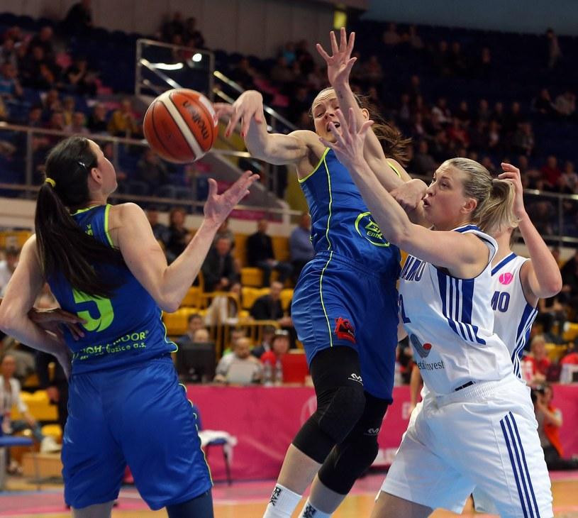 Koszykarki Dynama Kursk podczas meczu półfinałowego /East News