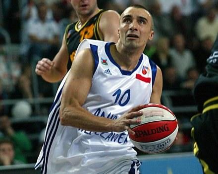 Koszykarz Anwilu Włocławek Andrzej Pluta, fot: Krystyna Paczkowska /Agencja Przegląd Sportowy