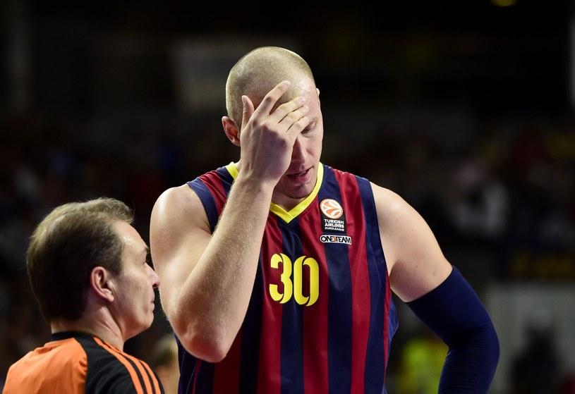 Koszykarz Barcelony Maciej Lampe /AFP