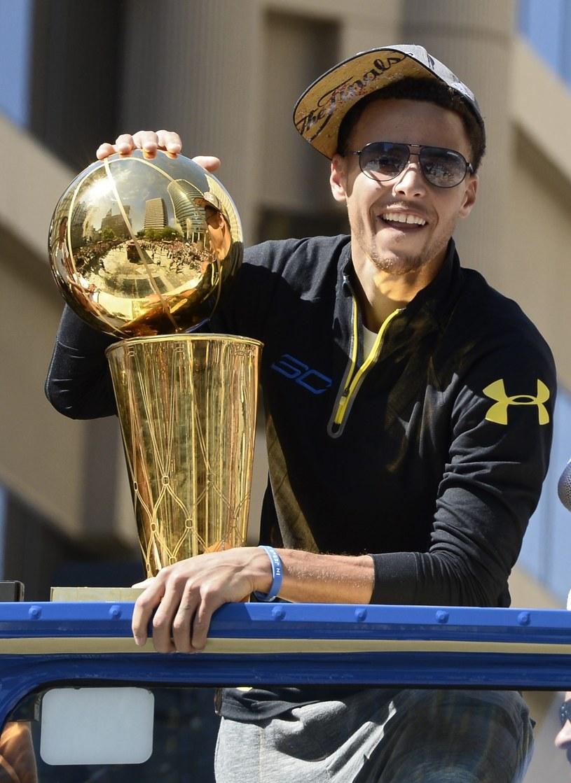 Koszykarz Golden State Warriors Stephen Curry /PAP/EPA