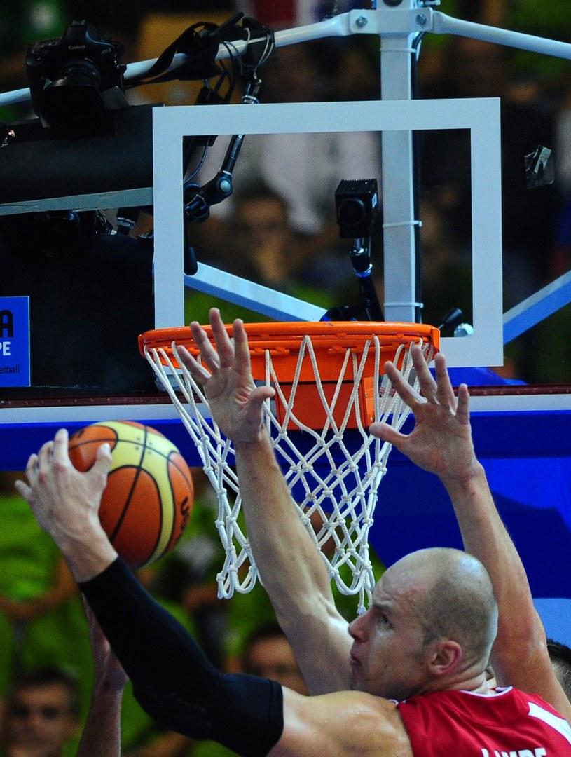 Koszykarz reprezentacji Polski i FC Barcelona - Maciej Lampe /AFP
