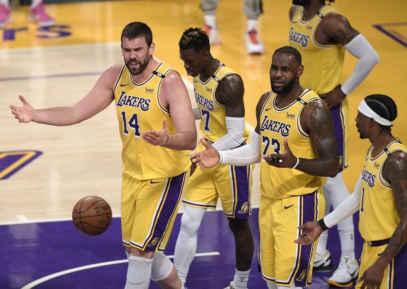 Koszykarze Los Angeles Lakers /AFP