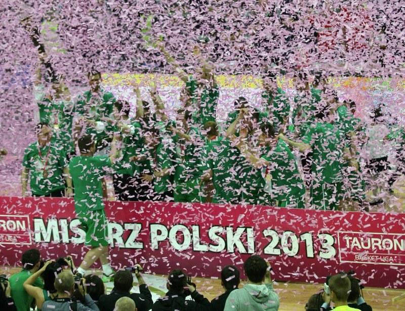 Koszykarze mistrza Polski - Stelmetu Zielona Góra /AFP