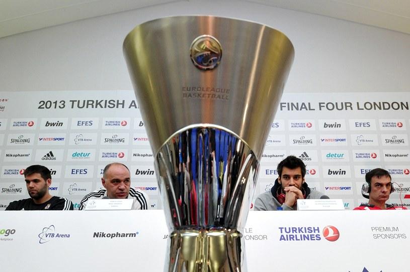 Koszykarze Realu i Olympiakosu zagrają o najcenniejsze trofeum w europejskiej koszykówce /AFP