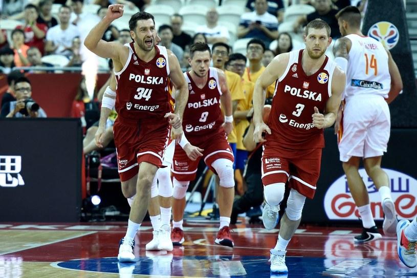 Koszykarze reprezentacji Polski /AFP