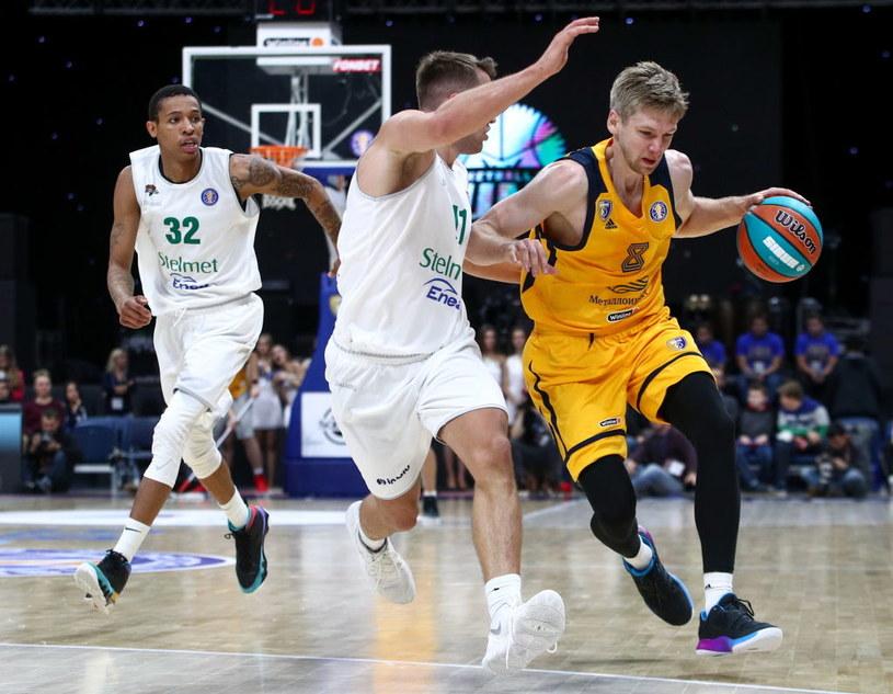 Koszykarze Stelmetu Enea BC Zielona Góra (białe stroje) /Getty Images