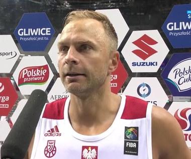 Koszykówka. Łukasz Koszarek: Rywale grali bardzo twardo (POLSAT SPORT). Wideo