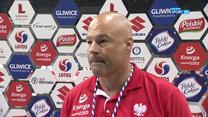 Koszykówka. Mike Taylor: Jestem zadowolony z dobrego występu młodych zawodników (POLSAT SPORT). Wideo