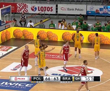Koszykówka. Polska - Brazylia 79:85 - skrót meczu. Wideo (POLSAT SPORT)