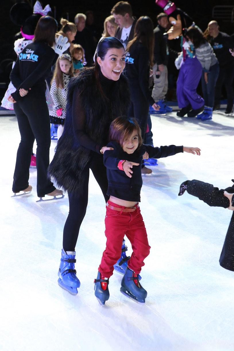 Kourtney Kardashian z synem /Ari Perilstein /Getty Images