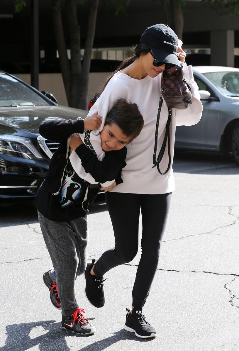 Kourtney Kardashian z synem /East News