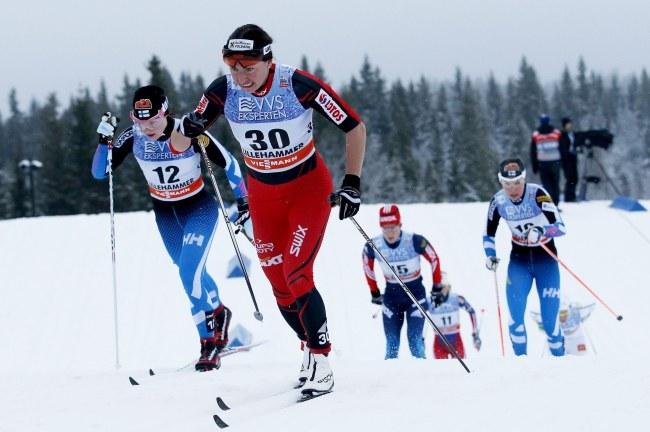 Kowalczyk w wyścigu w Lillehammer /CORNELIUS POPPE /PAP/EPA
