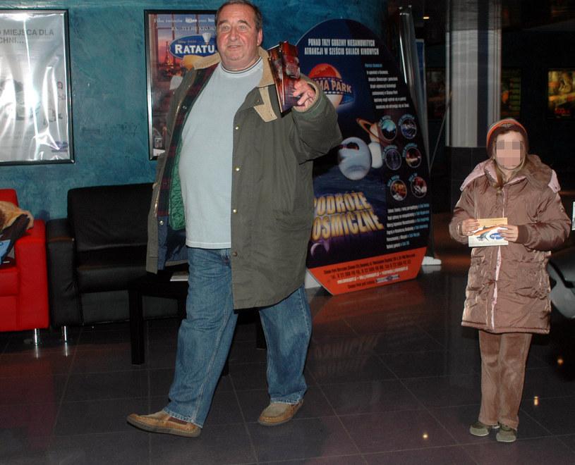 Kowalewski z córką, 2007 rok /MWMedia