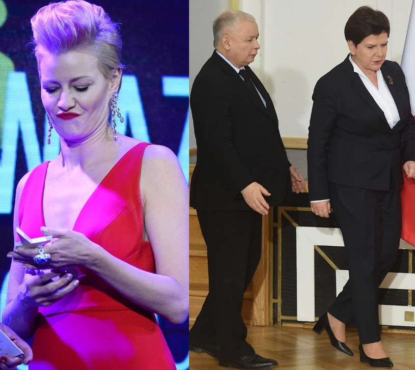Kożuchowska, Kaczyński i Szydło (MWMedia;FORUM) /- /MWMedia