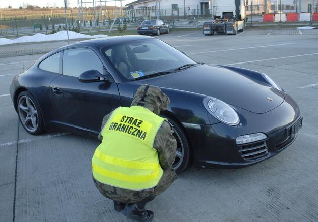 Kradzione Porsche / Fot: Straż Graniczna /
