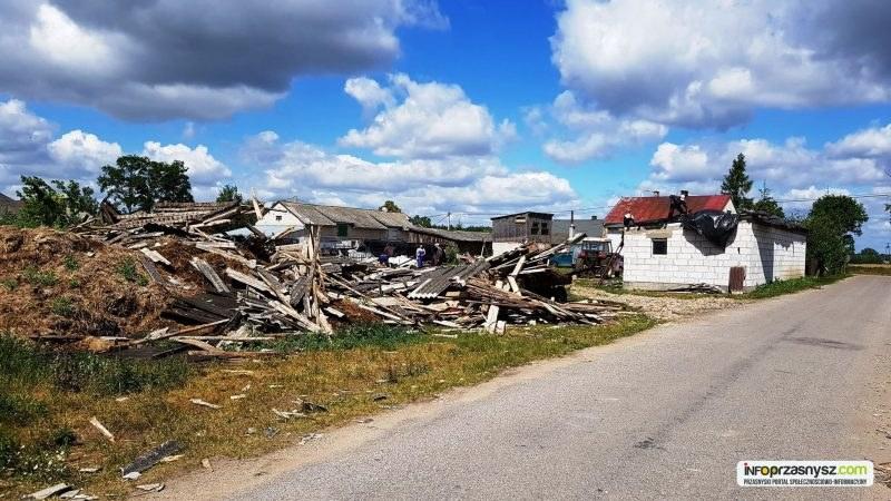 Krajobraz po nawałnicy w okolicy Przasnysza na Mazowszu /https://www.infoprzasnysz.com /
