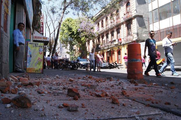 Krajobraz po trzęsieniu ziemi /AFP