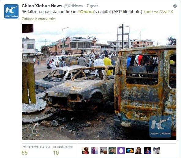 Krajobraz po wybuchu /Twitter