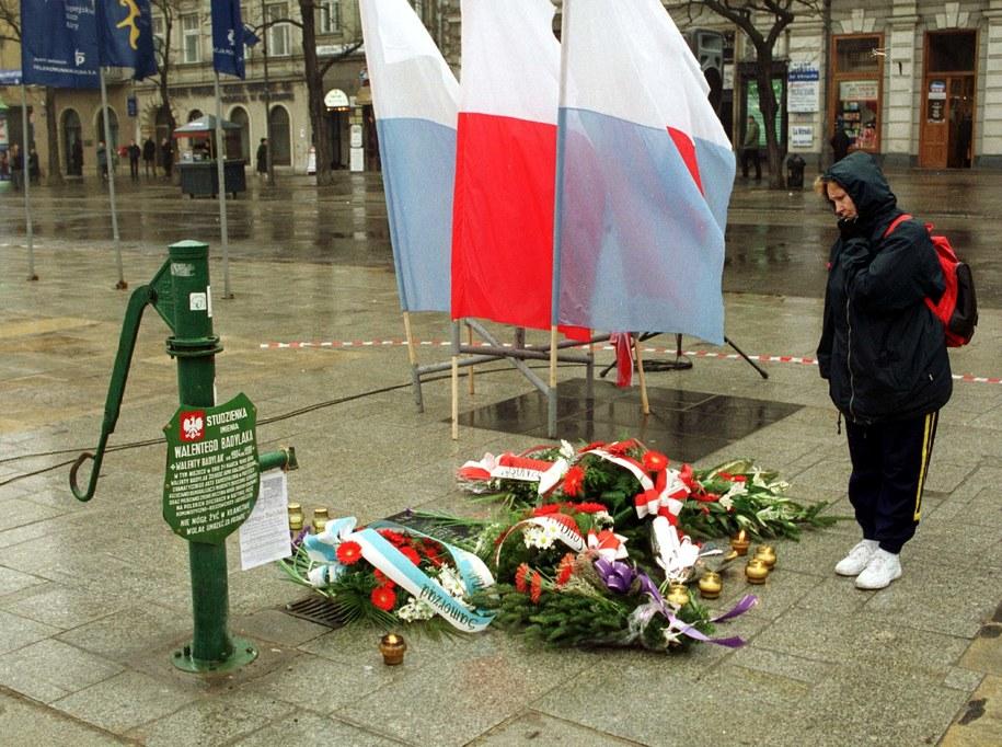 Kraków obchodził rocznicę tragicznej śmierci Walentego Badylaka /Jacek Bednarczyk /PAP