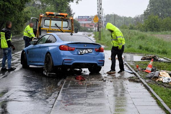 Wypadek na ul. Balickiej w Krakowie
