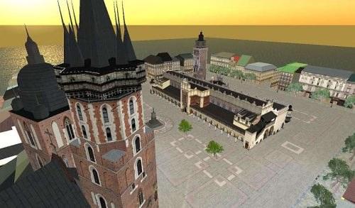 Kraków w wersji elektronicznej (Second Life) /Informacja prasowa