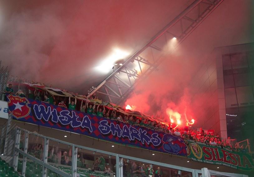Krakowianie na stadionie Legii Warszawa /East News