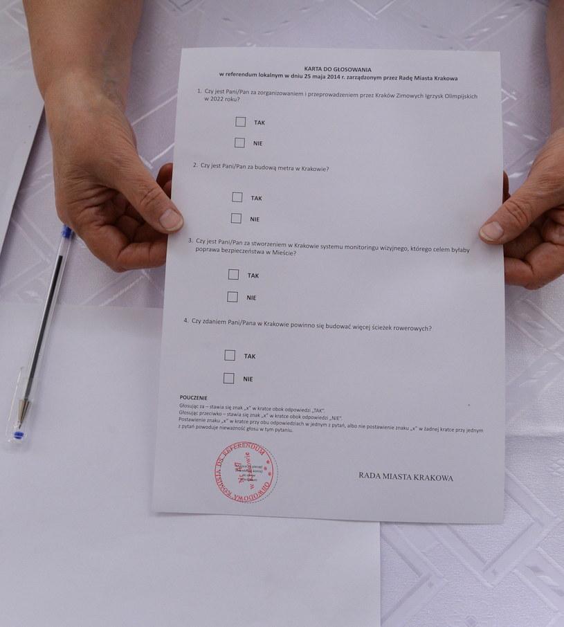Krakowianie zdecydowali w referendum, że nie chcą igrzysk /Jacek Bednarczyk /PAP