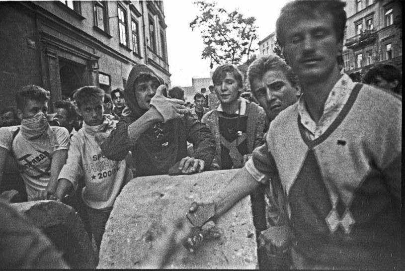 Krakowskie zamieszki przeciwko Armii Czerwonej w maju 1989 r. trwały trzy dni /Andrzej Stawiarski /Archiwum autora