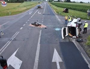 Krasnystaw: Tragiczny wypadek z udziałem motocyklisty. Nie żyją dwie osoby