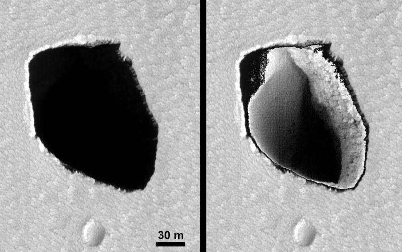 Krater na Marsie - podobny do Polski? /NASA