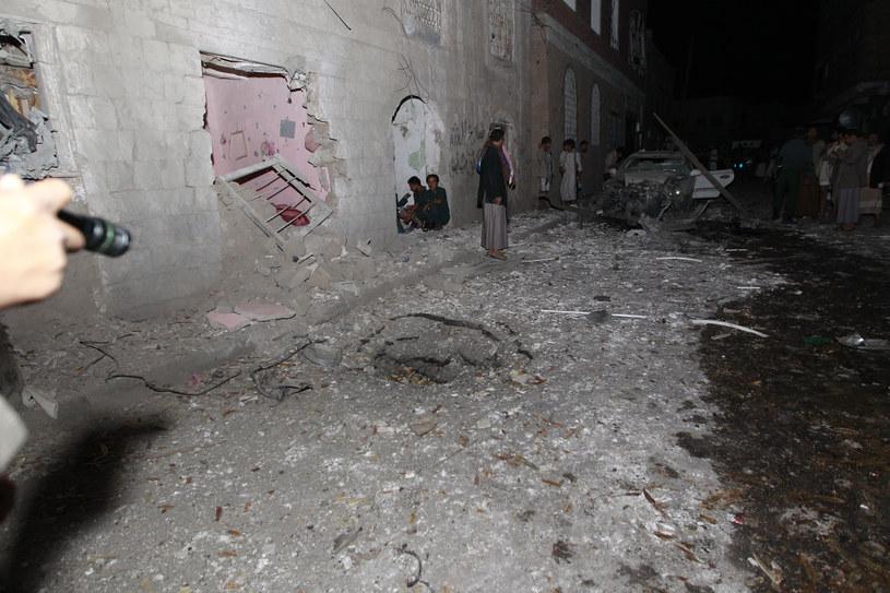 Krater w miejscu eksplozji /AFP