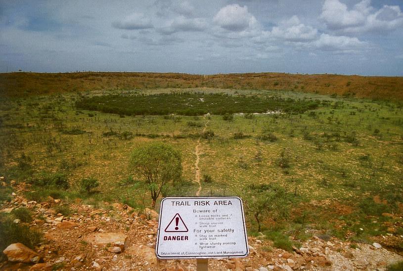 Krater Wolfe Creek Fot. Wikipedia/Kookaburra /Wikipedia