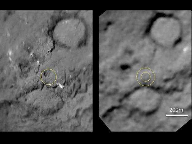 """Krater wytworzony uderzeniem """"pocisku"""" wysłanego przez sondę Deep Impact /AFP"""