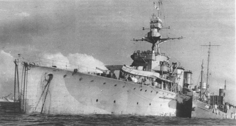 """Krążownik ORP """"Dragon"""" miał zostać wysłany na Cejlon, ostatecznie jednak nie trafił na Daleki Wschód /Domena publiczna /INTERIA.PL/materiały prasowe"""