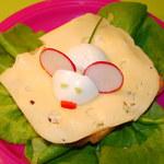 Kreatywne śniadanie: Kanapka myszka