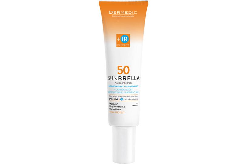 Krem do twarzy SPF 50 z ochroną UVA +UVB + IR Dermedic /materiały prasowe